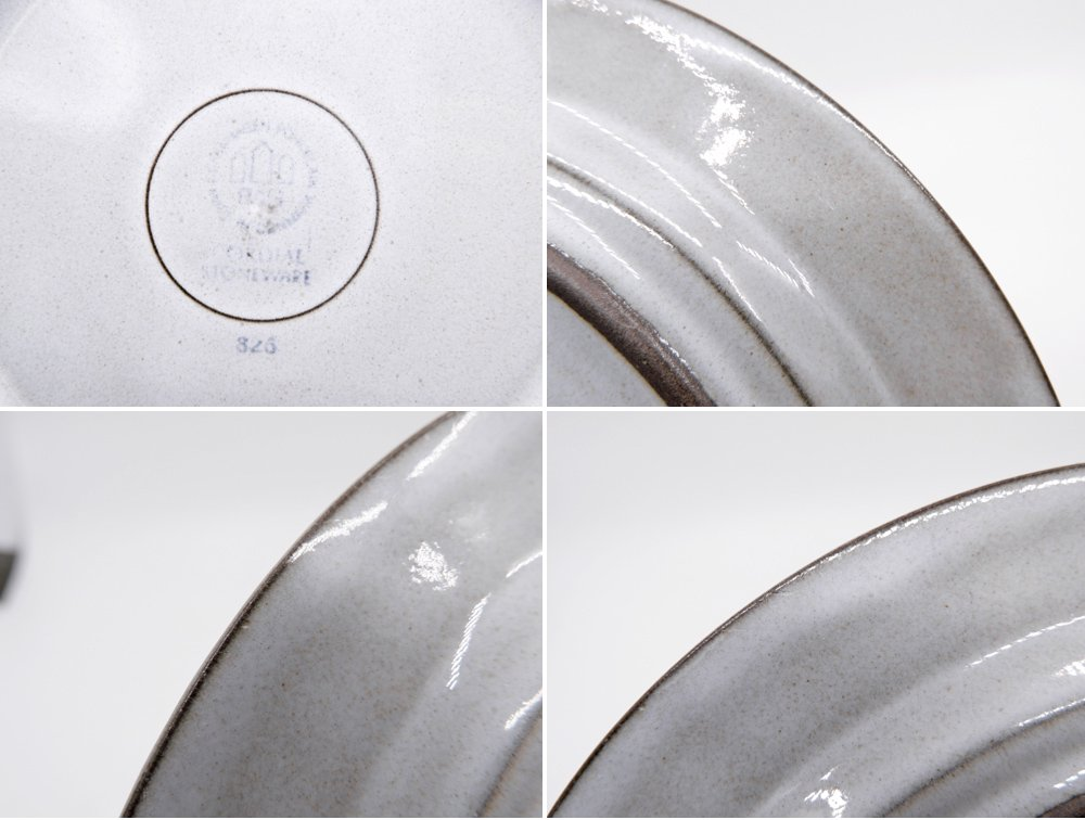 ビングオーグレンダール B&G コーディアル Cordial プレート 大 グレー イェンス・H・クィストゴー JHQ デンマーク 北欧ビンテージ A ●