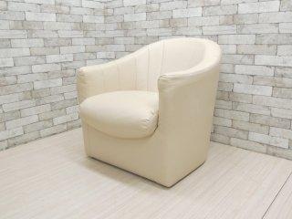 マルタファニチャー MARTA Furniture PVCレザー 一人掛け ソファ ホワイト モダンデザイン ●