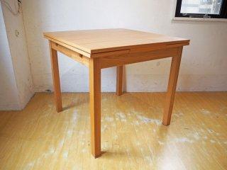 無印良品 MUJI エクステンション ダイニングテーブル 伸長式 タモ材 ナチュラル シンプル ★