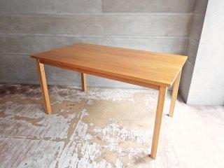 無印良品 MUJI オーク材 無垢集成材 ダイニングテーブル ナチュラル 幅140cm 廃盤 希少 ♪