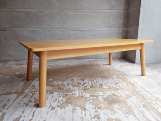 無印良品 MUJI リアルファニチャー オーク材ラウンジテーブル1 ナチュラル 現行定価:¥41,900- ローテーブル センターテーブル ♪