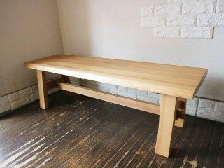タモ材 ベンチ 無垢材 木製家具 ナチュラル スタイル ◎