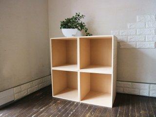 マルゲリータ margherita レコード 収納 ボックス 本棚 4個組 組み換え可能 ◎