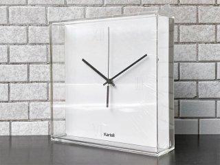 カルテル Kartell ティックタック Tic&Tac ウォールクロック フィリップ・スタルク ホワイト アクリル 壁掛け時計 イタリア ■