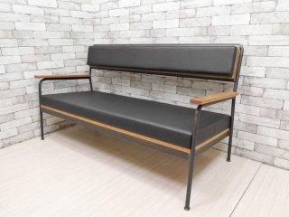 ヒロファニチャー hiro furniture ソファ 004 sofa 004 2シーターソファ ホワイトオーク × アイアン インダストリアル 定価: \173,800- ●