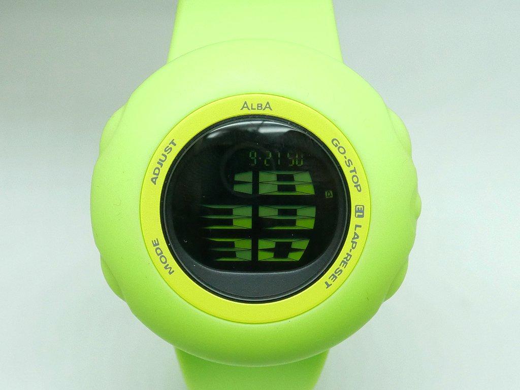 セイコー アルバ ALBA オクトパシー デジタルウォッチ グリーン デッドストック品 ステファノ・ジョヴァンノーニ デザイン ●