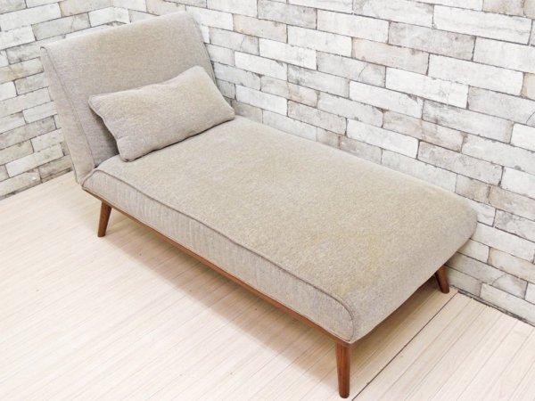 ウニコ unico ロイ ROY カウチ シェーズロング 寝椅子 1Pソファ グレー クッション付 廃番 ●