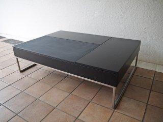 ボーコンセプト BoConcept シヴァ Chiva コーヒーテーブル リフトアップテーブル ブラック モダンデザイン くもりガラス加工 ◇