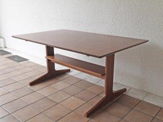 無印良品 MUJI リビングでもダイニングでもつかえる テーブル ウォールナット材 W130cm シンプル モダンデザイン 定価 44,900円 ◇