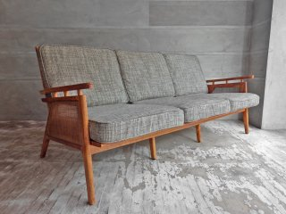アクメファニチャー ACME Furniture ウィッカー WICKER SOFA 3P ラタン 西海岸スタイル 定価\172,700- ♪