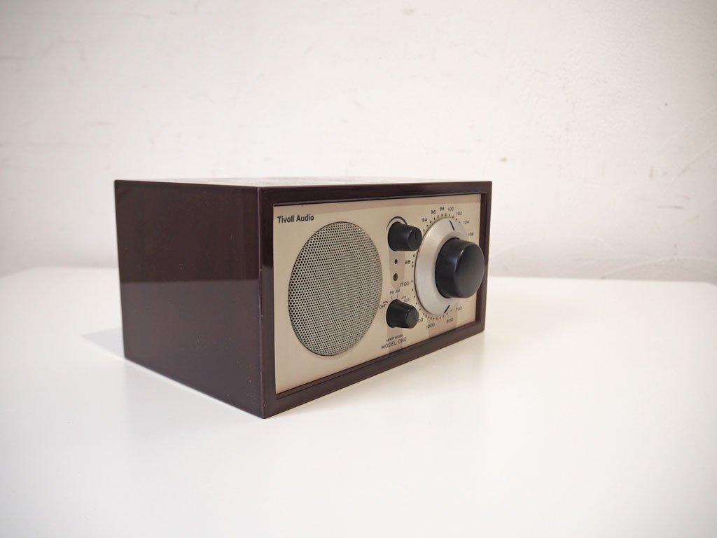 チボリ オーディオ Tivoli Audio モデルワン Model one プラチナムシリーズ Platinum Series ダークウォールナット AM/FM テーブルラジオ 動作不良 ★