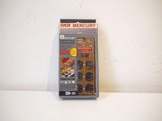マーキュリー MERCURY 電源タップ 延長コード OAタップ 3ピン対応 6分配 生産終了品 アメリカンブラウン スチールボディ サージ機能 壁掛け★