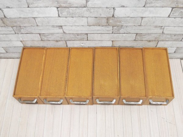 トラックファニチャー TRUCK Furniture エージーボックス AG ボックス Sサイズ 6個セット オーク無垢材 箱型収納 ハンドル&ネームプレート付 A ●