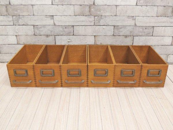 トラックファニチャー TRUCK Furniture エージーボックス AG ボックス Sサイズ 6個セット オーク無垢材 箱型収納 ハンドル&ネームプレート付 C ●