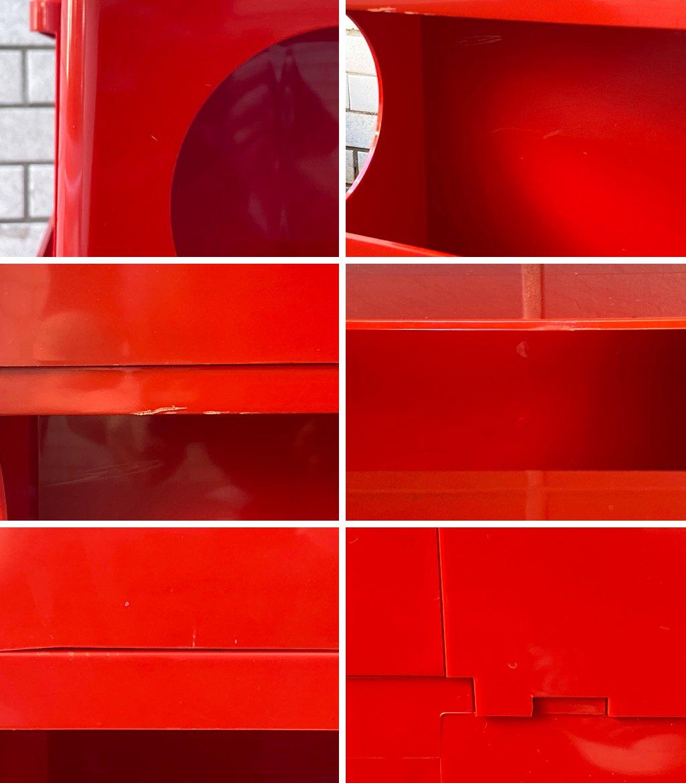 ビエッフェプラスト パドヴァ BIEFFEPLAST PADOVA ビンテージ ボビーワゴン BOBY WAGON レッド 3段3トレー ジョエ・コロンボ イタリア MoMA ■