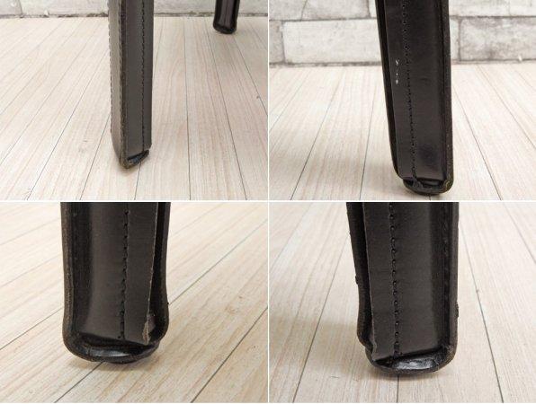 カッシーナ Cassina キャブアームレスチェア #412 CAB 最高級本革 ブラック マリオ・ベリーニ MoMA 永久展示品 イタリアモダン 定価217,800円 B ●