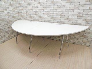 ハーマンミラー Herman Miller アバック ABAK システムデスク ワーキングテーブル ミーティングテーブル 半円型天板 W300 ティム・ウォレス オフィス家具 ●
