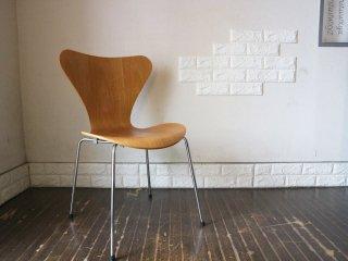 フリッツハンセン Fritz Hansen セブンチェア Seven Chair アルネヤコブセン Arne Jacobsen ナッツ ナチュラル 廃盤カラー デザイナーズ B ◎