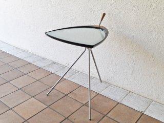 カリモク karimoku ガラス×ウッド×スチール サイドテーブル コーヒーテーブル 希少 シンプルモダン ◇