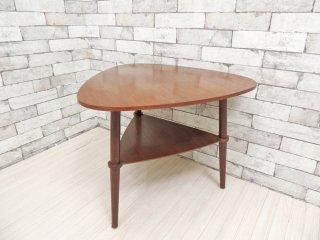 北欧スタイル Scandinavian style ビンテージ チーク材 三角天板 サイドテーブル ナイトテーブル ミッドセンチュリー ●