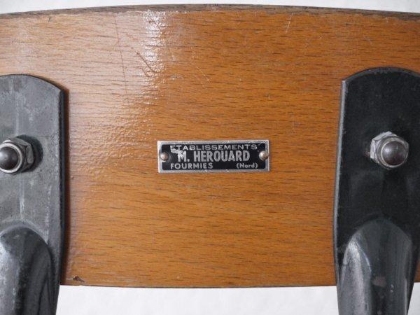 M.HEROUARD ビンテージ カウンターチェア ドラフティングチェア デスクチェア アイアン 昇降式 キャスター付 工業系 ◇