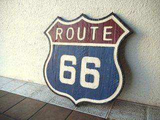 クラッシュゲート CRASH GATE ルート66 ROUTE 66 モチーフアートボード パネルボード インテリア 壁掛け 木製 シャビーシック ◇