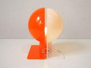 グッチーニ guzzini Sirio テーブルランプ 70'sビンテージ ホワイト x オレンジ スペースエイジ ミッドセンチュリー ★