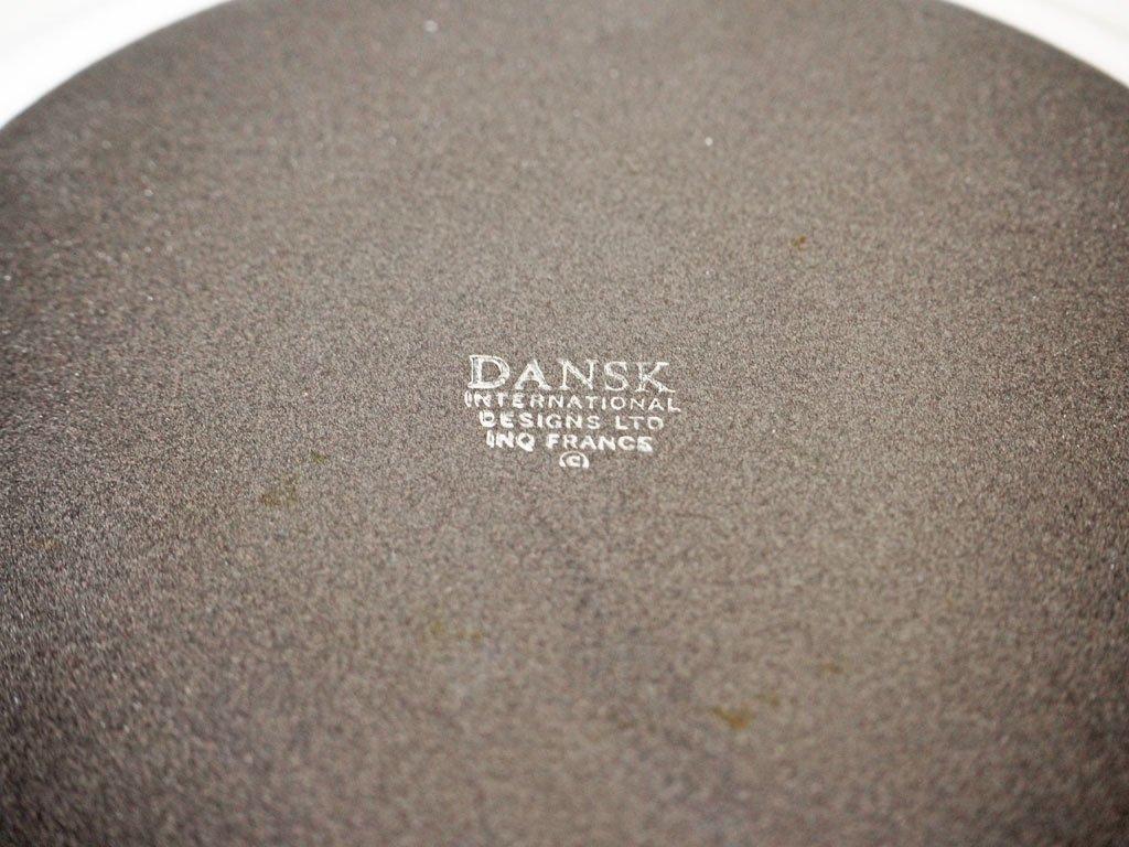 ダンスク DANSK コベンスタイル Kobenstyle 蓋付き ホーロー 深型片手鍋 ホワイト チーク材 イェンス・クイストゴー フランス製 ビンテージ ★