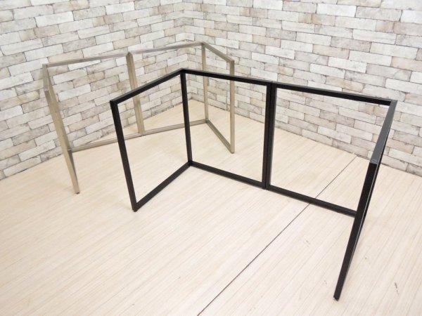 ビスレー BISLEY Lフット ステンレスフレーム シルバー デスク脚 英国 定価¥63,800- ●
