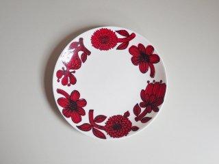 グスタフスベリ Gustavsberg レッドアスター RED ASTER プレート Φ17cm 復刻版 北欧食器 A ♪