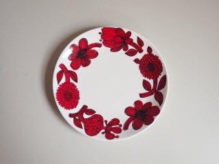 グスタフスベリ Gustavsberg レッドアスター RED ASTER プレート Φ17cm 復刻版 北欧食器 B ♪