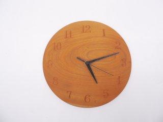 三谷龍二 木製 掛時計 ウォールクロック 山桜 Φ21cm 現代作家 ●
