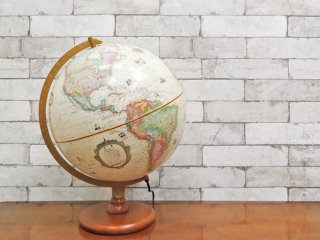 リプルーグル REPLOGLE カーライル型 地球儀 アンティーク地図 照明付 箱付 アメリカ 定価3.52万円 ●