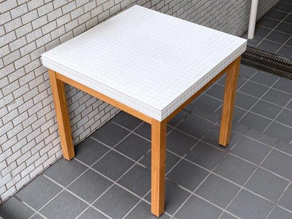モモナチュラル Momo Natural ランド LAND モザイクトップテーブル MOSAIC TOP TABLE タイルトップ 幅76cm ■