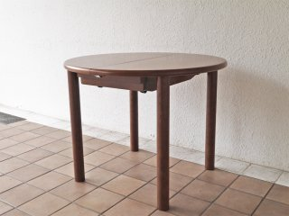 日進木工 nissin ラウンド エクステンション ダイニングテーブル EX 伸長式 オーク材 飛騨の家具 ◇