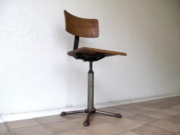 ドラバート DRABERT アジャスタブルワークチェア 1950年代 ビンテージ ドイツ製 ドラフティングチェア 工業系 バウハウス 激レア インダストリアル ◇