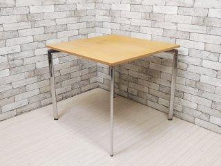 ラムホルツ LAMMHULTS キャンパス CAMPUS カフェテーブル ダイニングテーブル スクエア 木製天板 W80cm スウェーデン 北欧モダンデザイン ●