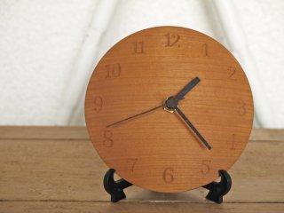 三谷龍二 木製 掛時計 ウォールクロック 山桜 Φ12cm 現代作家 元箱付き 希少品 ◇