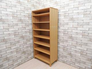 無印良品 MUJI タモ材 組み合わせて使える木製収納 ミドルタイプ H175.5cm 本棚 ブックシェルフ 廃番 ●