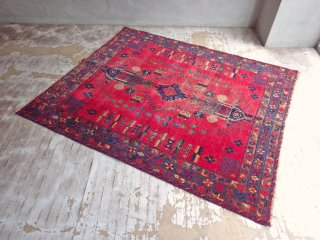 トライバルラグ  部族 民族 絨毯 イラン アフガニスタン W175 手織り♪