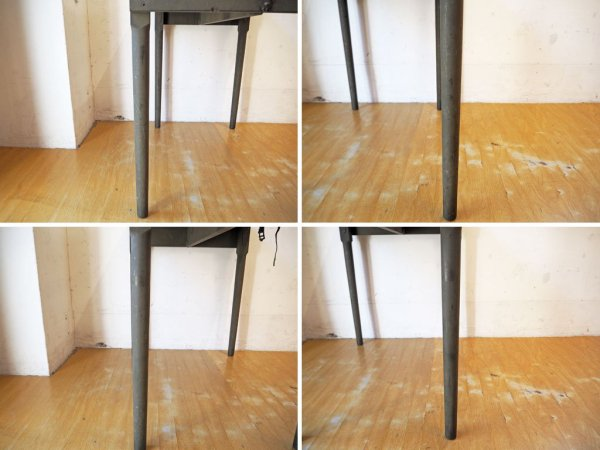 USビンテージ ミリタリー フィールドテーブル 米軍仕様 フォールディングデスク 木製折畳テーブル アーミーグリーン ★