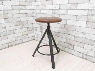 ジャーナルスタンダード journal standard Furniture j.s.F シノン スツール CHINON STOOL 本革 定価\28,600- ●