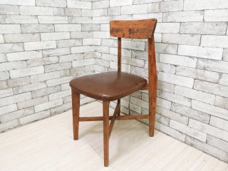 ジャーナルスタンダード journal standard Furniture j.s.F シノン チェア CHINON CHAIR ダイニングチェア 本革 定価\29,700- B ●