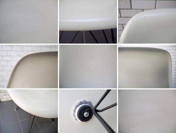 ハーマンミラー Herman Miller サイドシェルチェア 現行FRP製 ホワイト 1stタイプ ブラック エッフェルベース C&R イームズ DSR ミッドセンチュリー ■