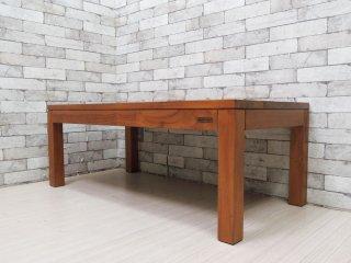スキャンティーク SCANTEAK コニスカ KONISKA センターテーブル チーク材 W120 定価¥61,600- ●
