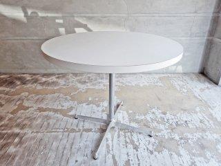 モダンスタイル Modern Style ラウンドテーブル カフェテーブル ホワイト Φ90cm グライズ付♪