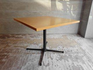 インダストリアルスタイル Industrial Style カフェテーブル オーク材 スクエア W90cm ブルックリンスタイル  ♪