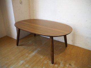 カリモク60+ karimoku ロクマルプラス デコラトップ メラミン天板 ローテーブル オーバル センターテーブル ★