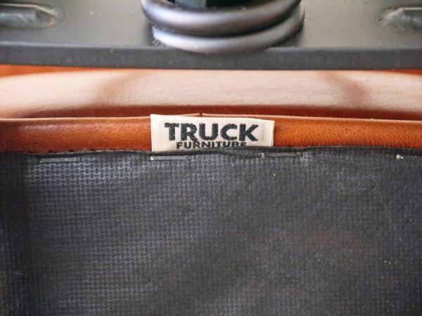 トラックファニチャー TRUCK FURNITURE デスクワークチェア DESKWORK CHAIR 本革 スチールフレーム スタッズ アーム キャスター付き 工業系 ◇