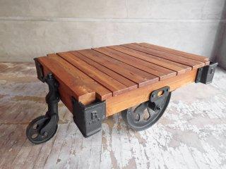アクメ ファニチャー ACME Furniture ギルド ドーリーテーブル GUILD DOLLY TABLE S チーク古材 ローテーブル インダストリアル 廃番 定価:\147,400- ♪